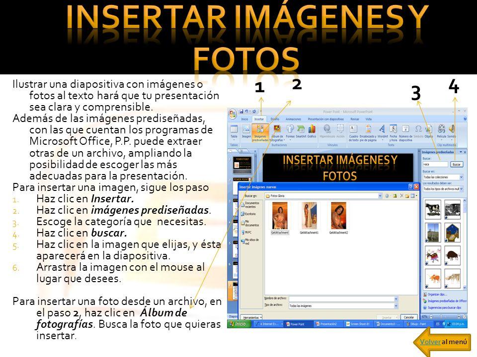 INSERTAR IMÁGENES Y FOTOS