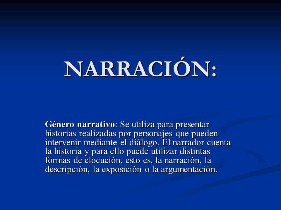 NARRACIÓN: