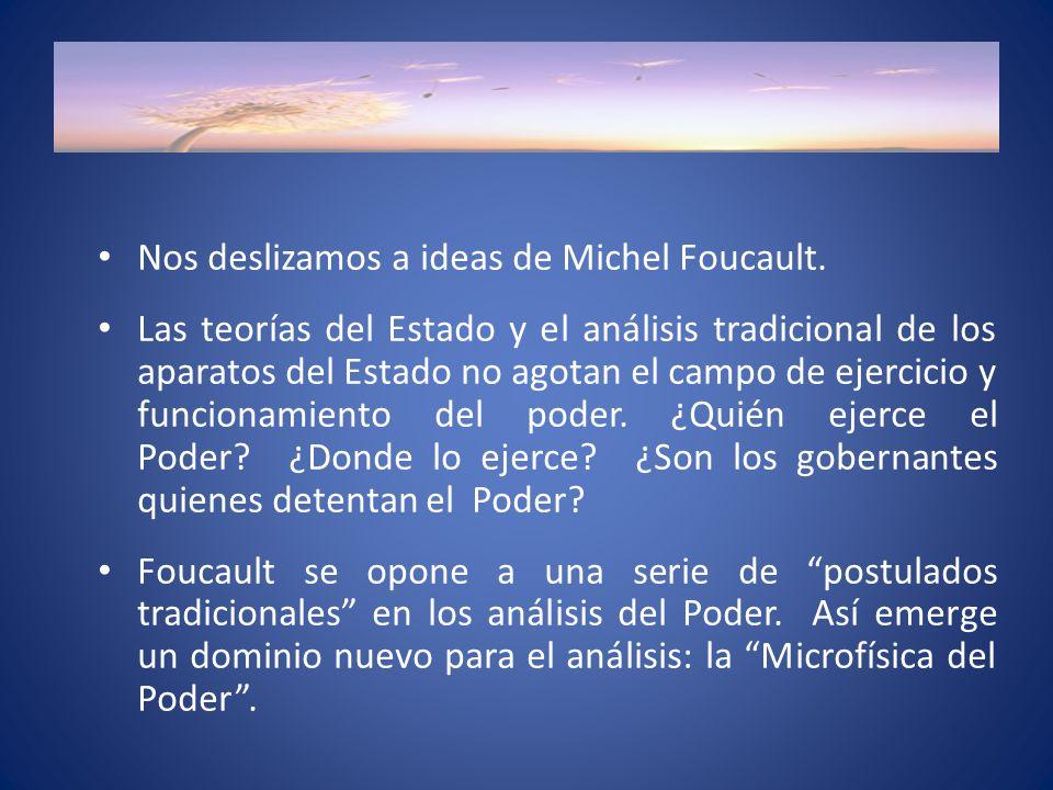 Nos deslizamos a ideas de Michel Foucault.