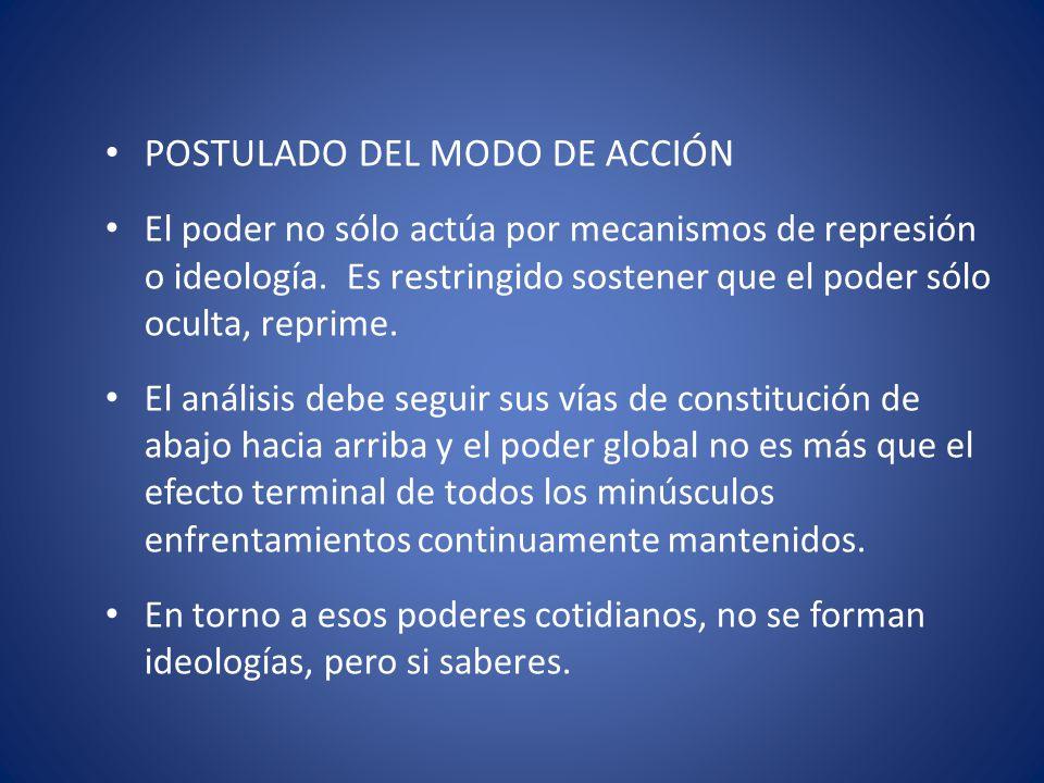 POSTULADO DEL MODO DE ACCIÓN