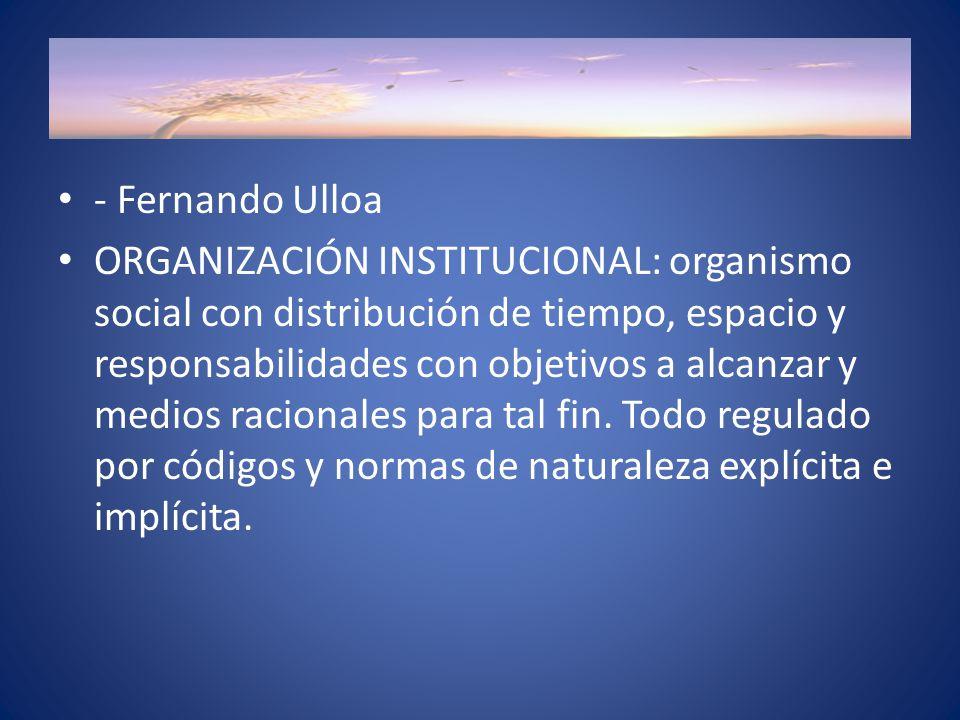 - Fernando Ulloa