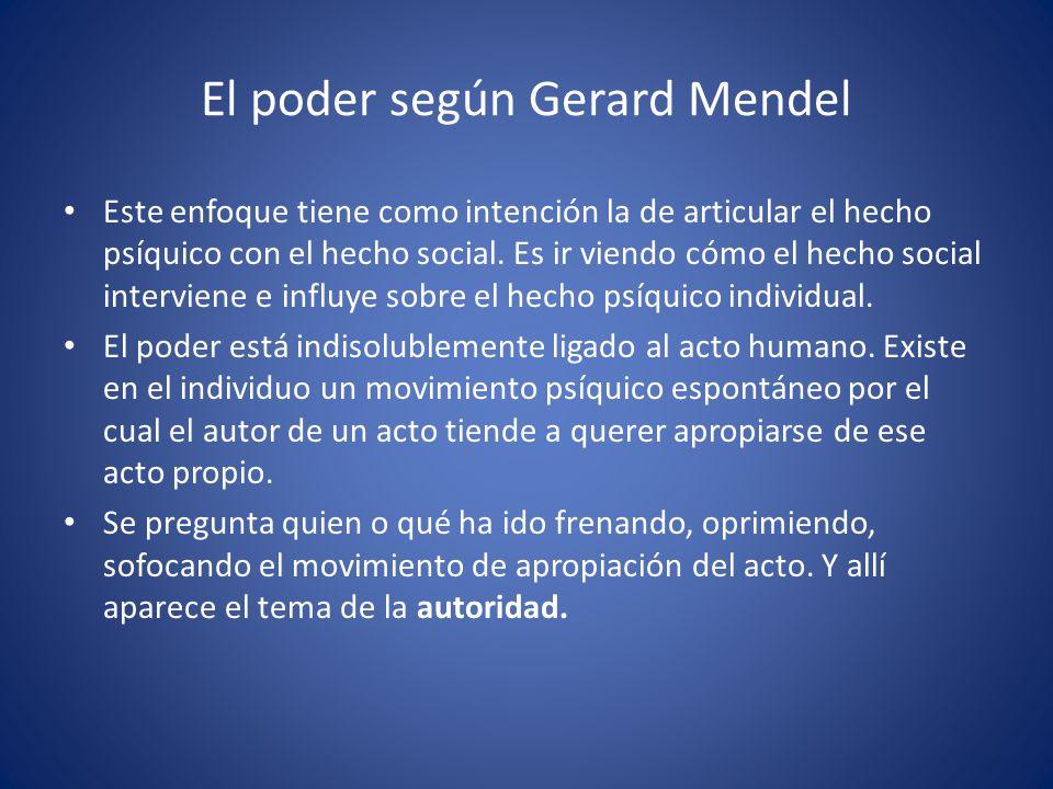 El poder según Gerard Mendel