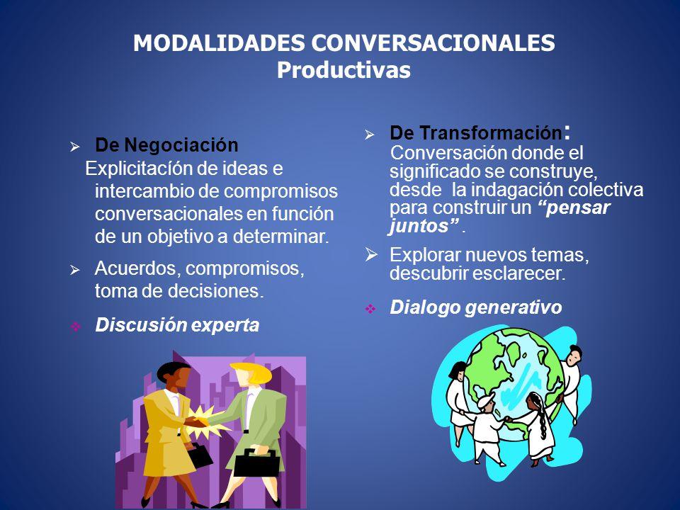MODALIDADES CONVERSACIONALES