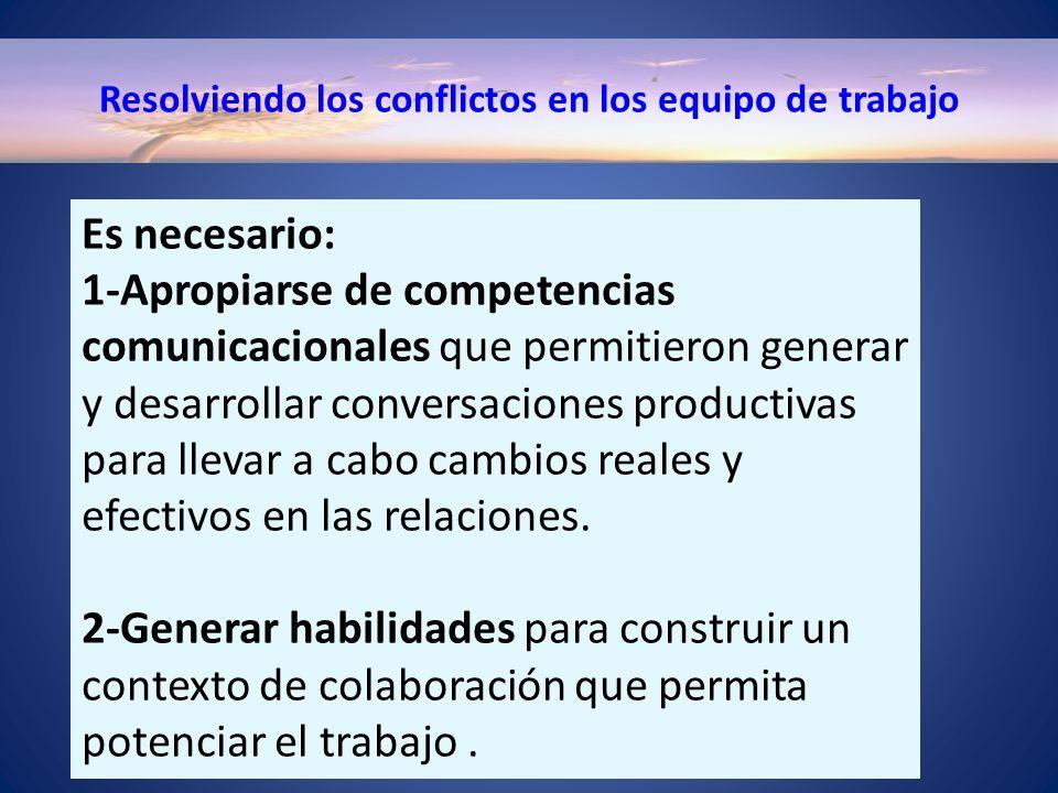 Resolviendo los conflictos en los equipo de trabajo