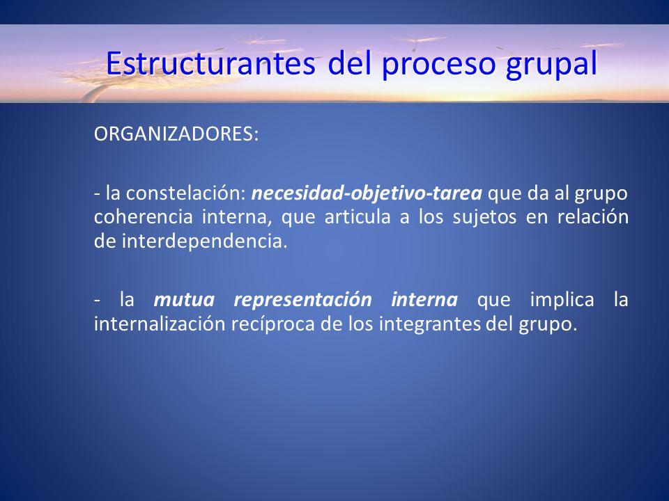 Estructurantes del proceso grupal