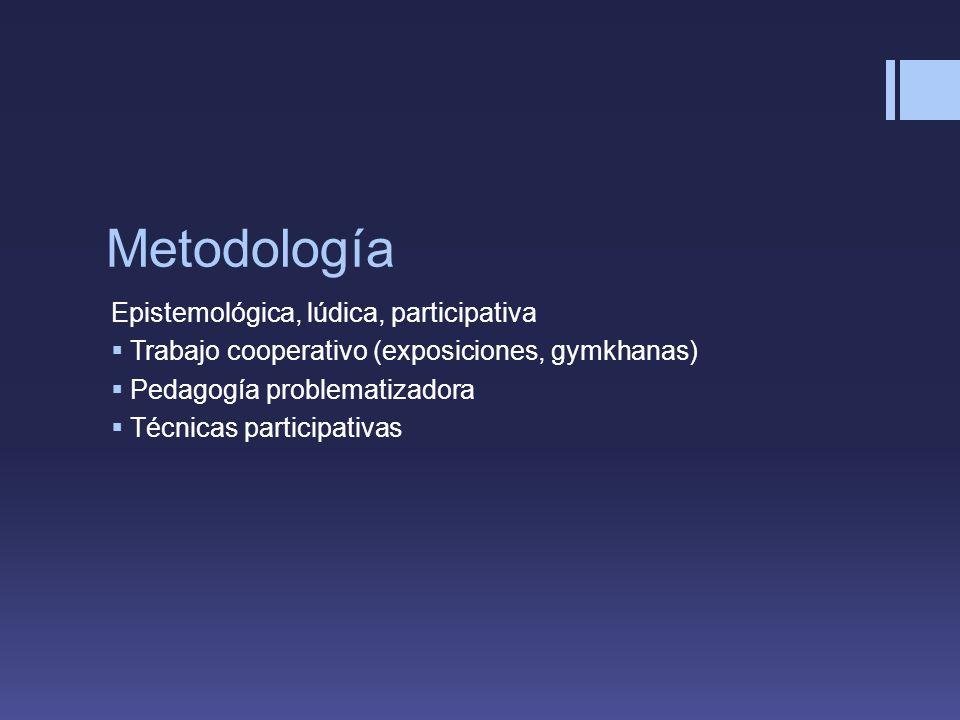 Metodología Epistemológica, lúdica, participativa