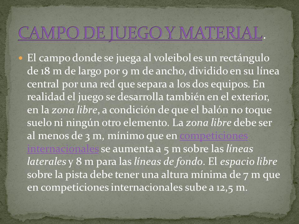 CAMPO DE JUEGO Y MATERIAL.