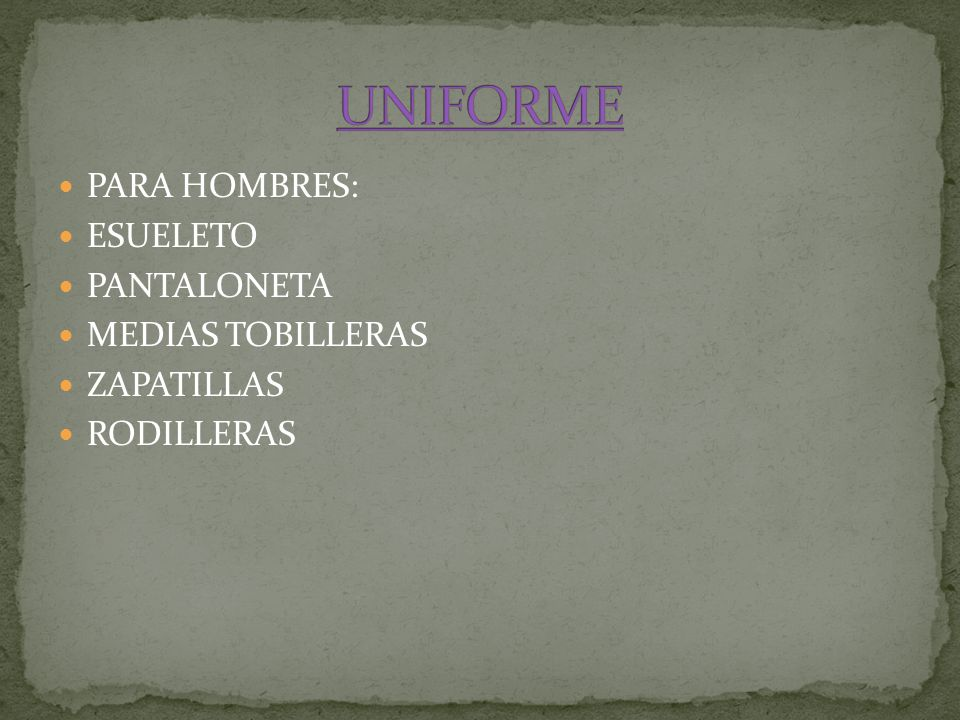 UNIFORME PARA HOMBRES: ESUELETO PANTALONETA MEDIAS TOBILLERAS