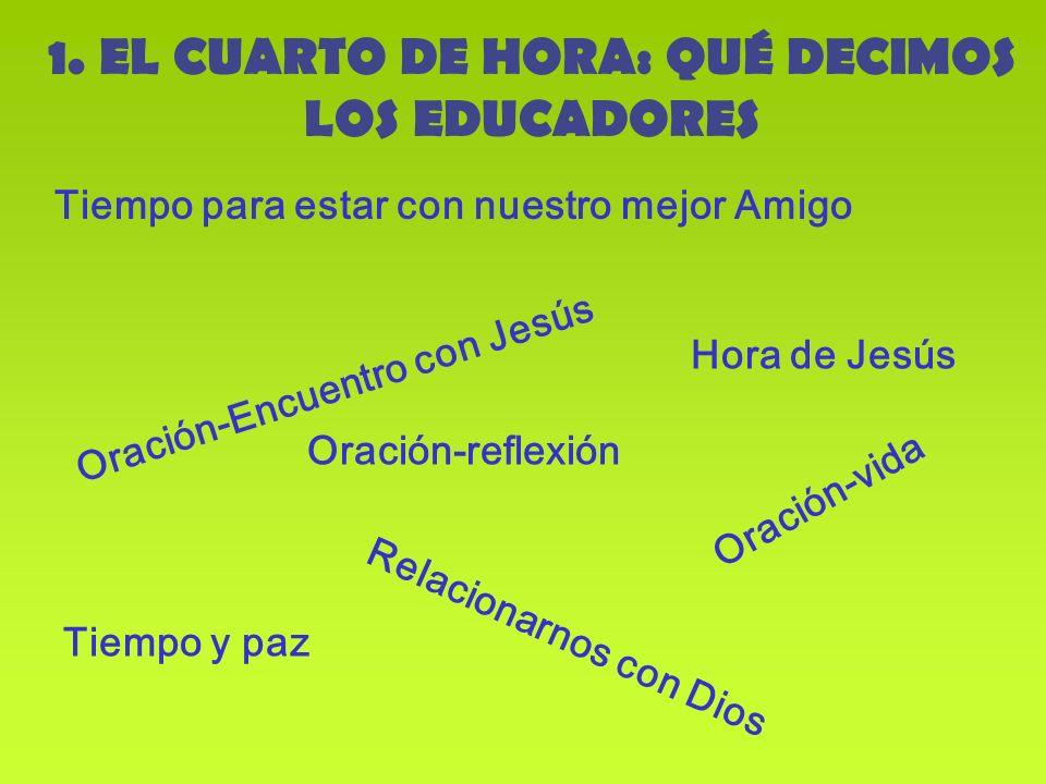 1. EL CUARTO DE HORA: QUÉ DECIMOS LOS EDUCADORES