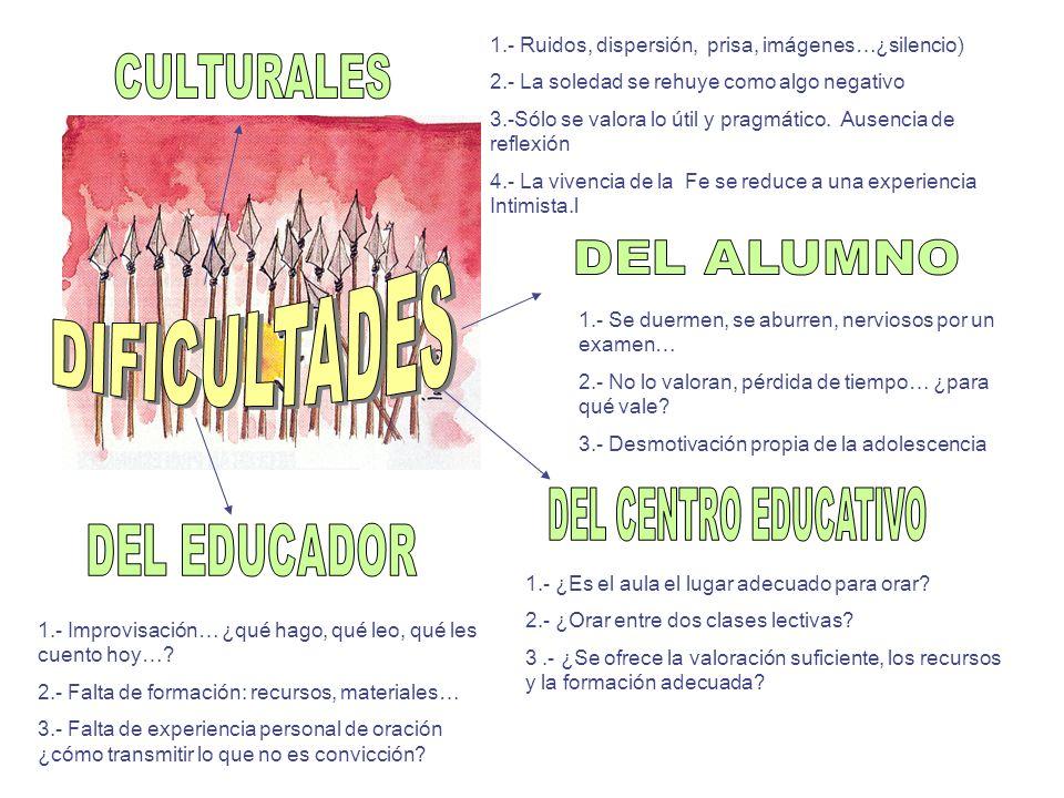 DIFICULTADES CULTURALES DEL ALUMNO DEL CENTRO EDUCATIVO DEL EDUCADOR