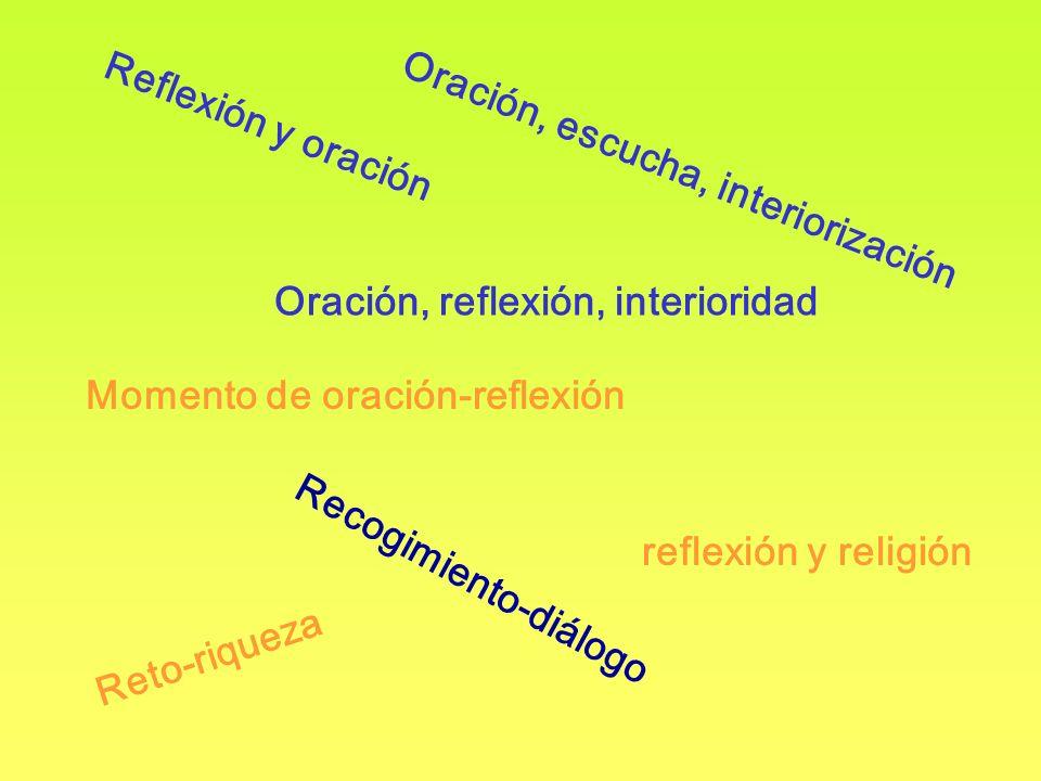 Oración, escucha, interiorización