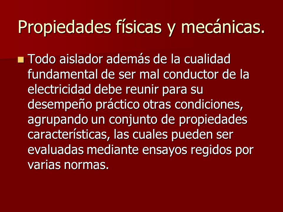 Propiedades físicas y mecánicas.