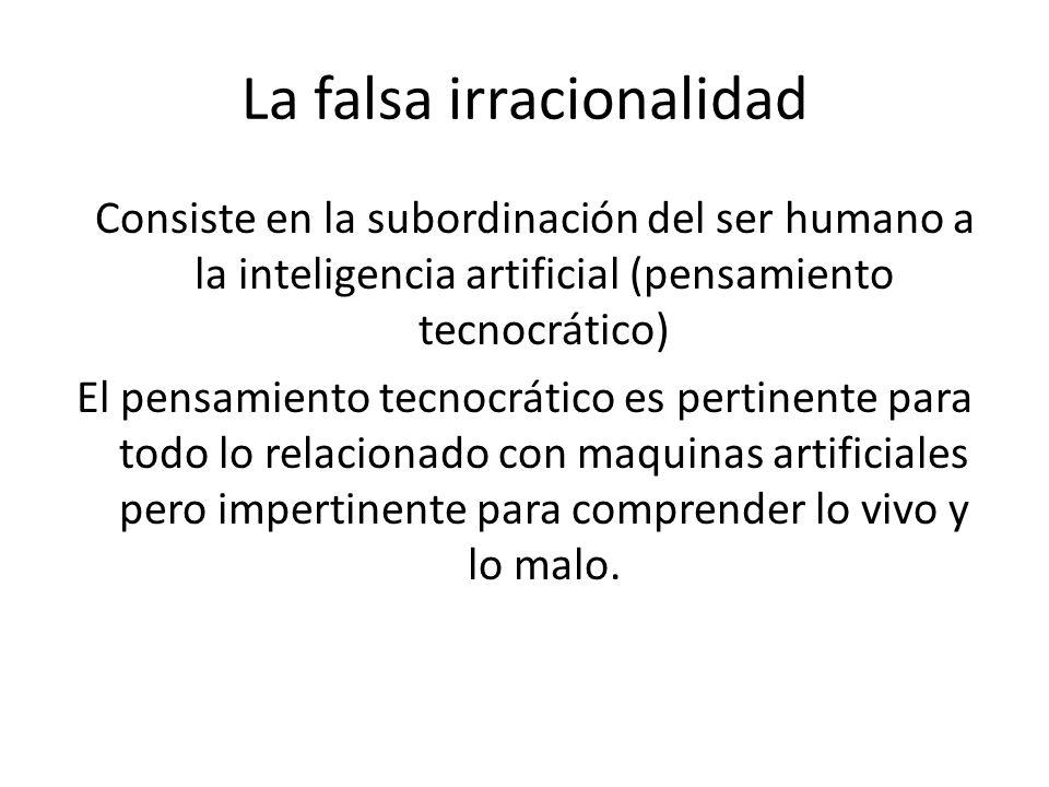 La falsa irracionalidad