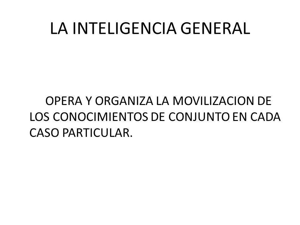 LA INTELIGENCIA GENERAL