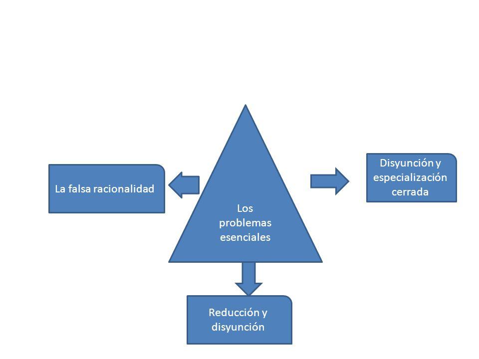 Los problemas esenciales Disyunción y especialización cerrada