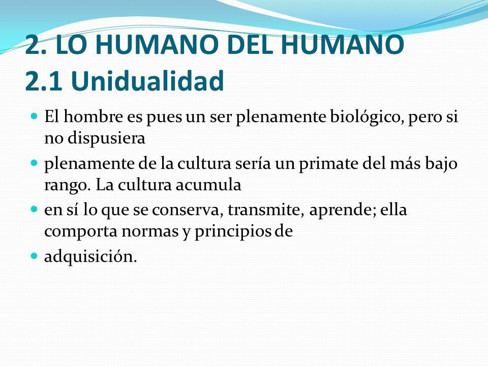 2. LO HUMANO DEL HUMANO 2.1 Unidualidad