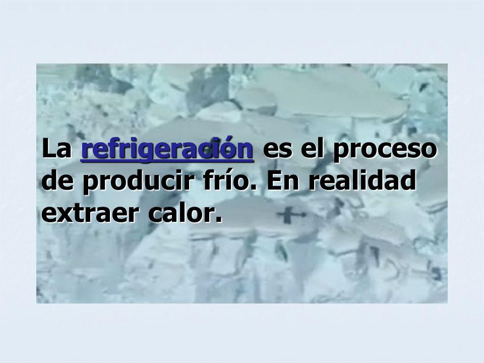 La refrigeración es el proceso de producir frío