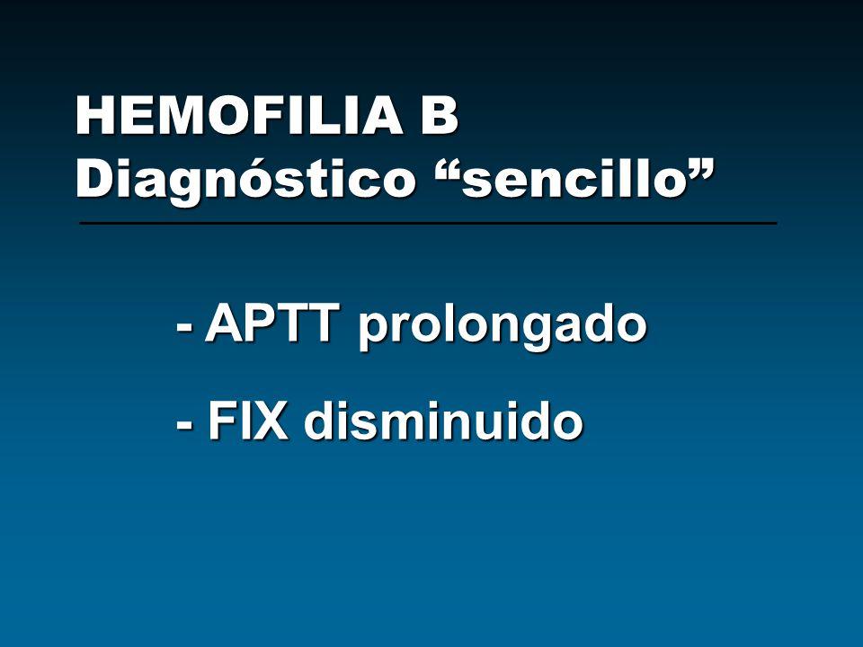 HEMOFILIA B Diagnóstico sencillo