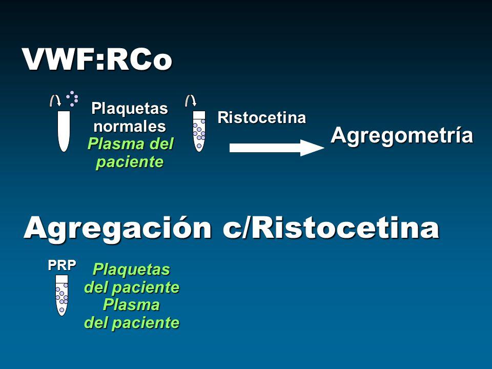 Agregación c/Ristocetina