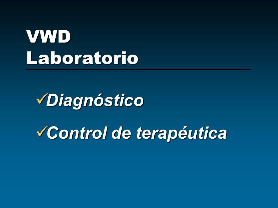 VWD Laboratorio Diagnóstico Control de terapéutica