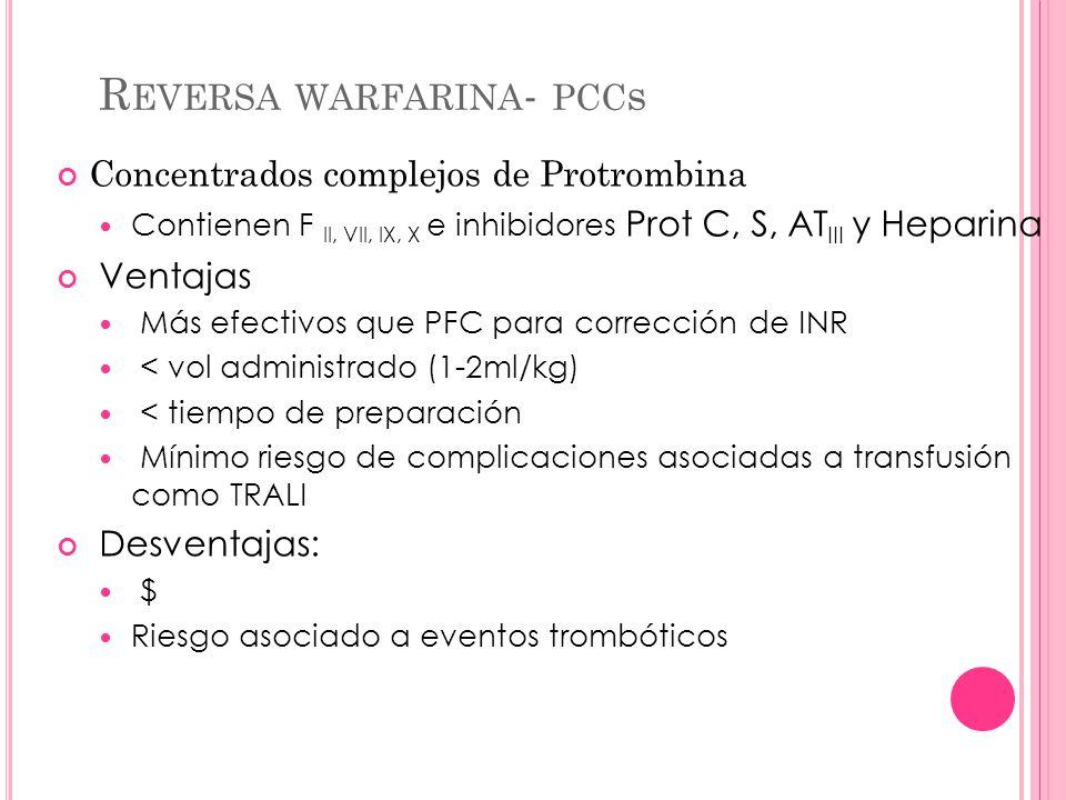 Reversa warfarina- pccs