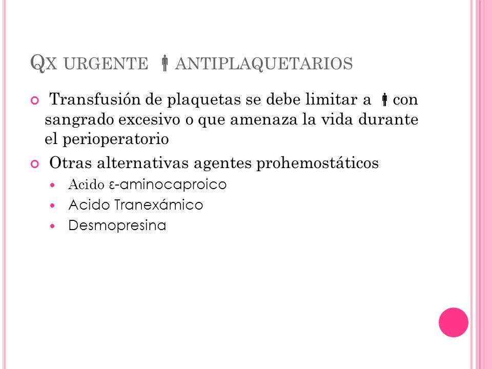 Qx urgente antiplaquetarios
