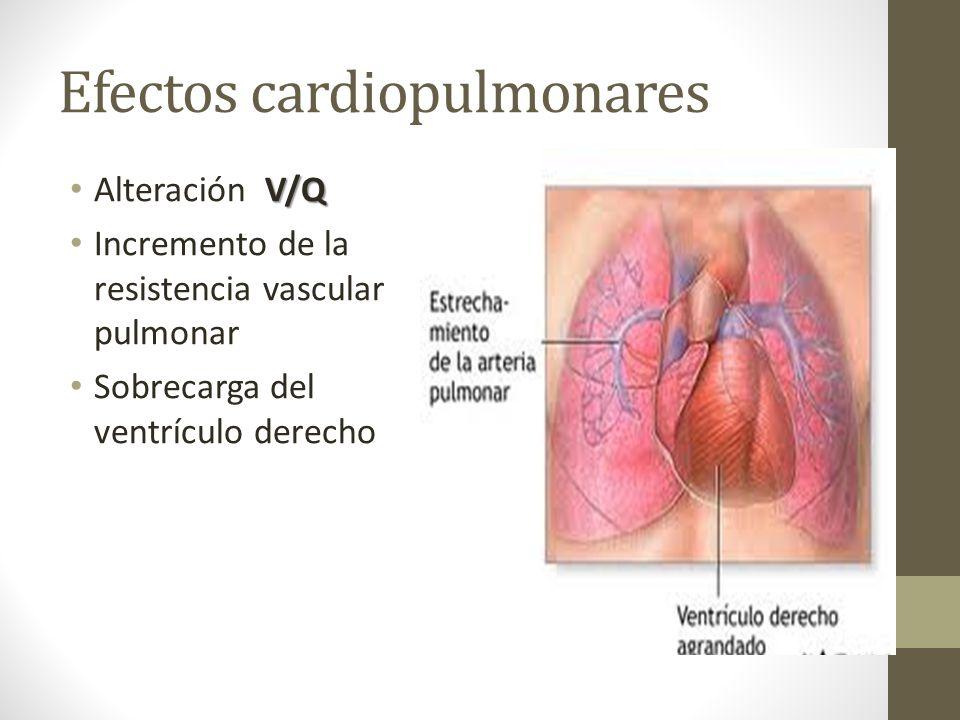 Efectos cardiopulmonares