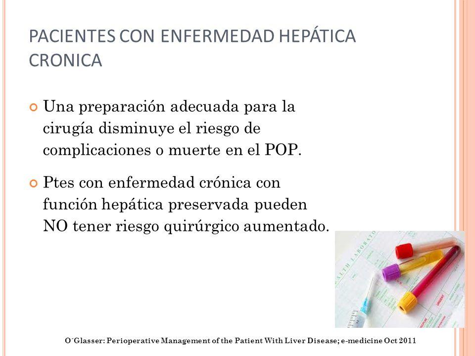 PACIENTES CON ENFERMEDAD HEPÁTICA CRONICA