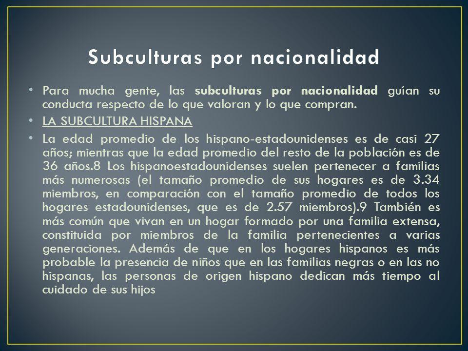 Subculturas por nacionalidad