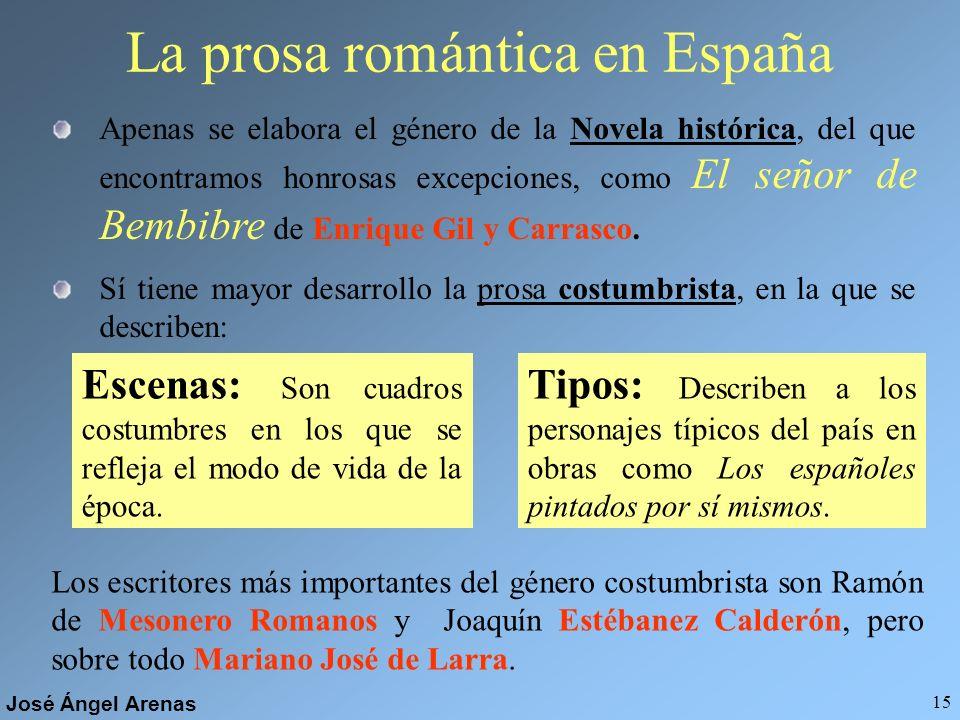 La prosa romántica en España