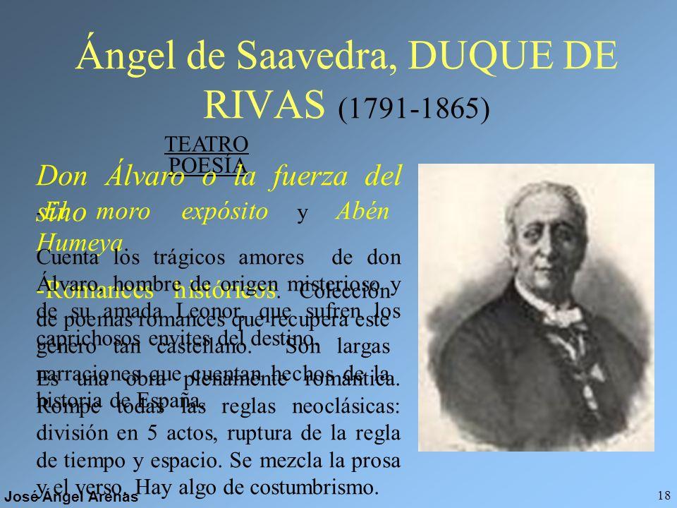 Ángel de Saavedra, DUQUE DE RIVAS (1791-1865)