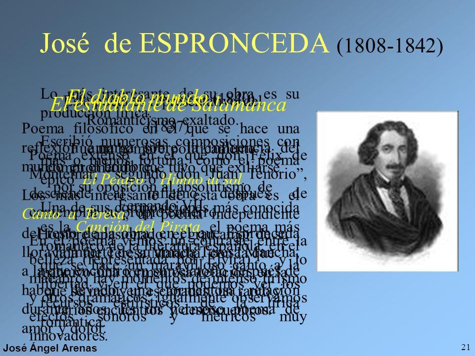 José de ESPRONCEDA (1808-1842) El diablo mundo (1840)