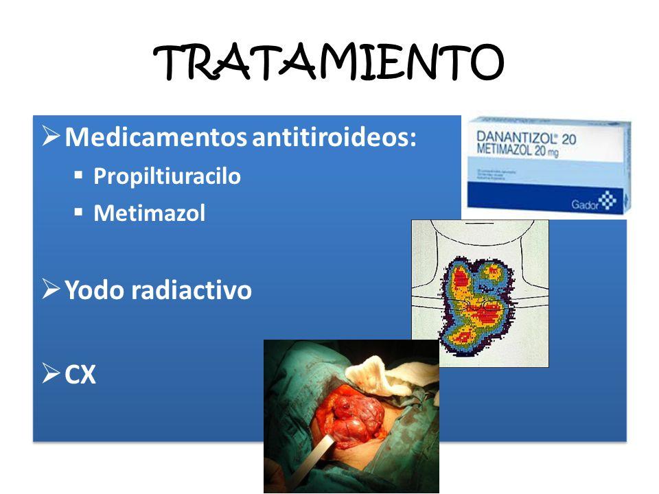 TRATAMIENTO Medicamentos antitiroideos: Yodo radiactivo CX