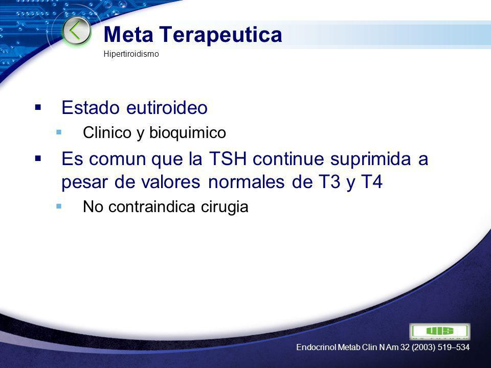 Meta Terapeutica Estado eutiroideo