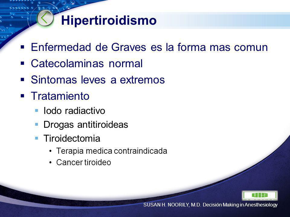 Hipertiroidismo Enfermedad de Graves es la forma mas comun