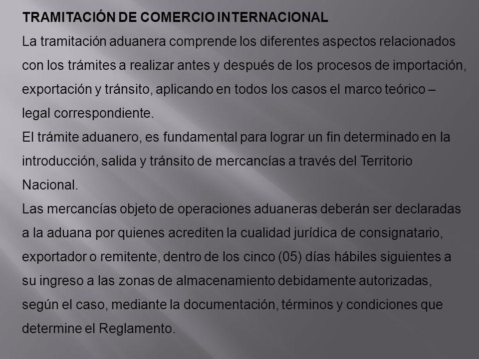 TRAMITACIÓN DE COMERCIO INTERNACIONAL