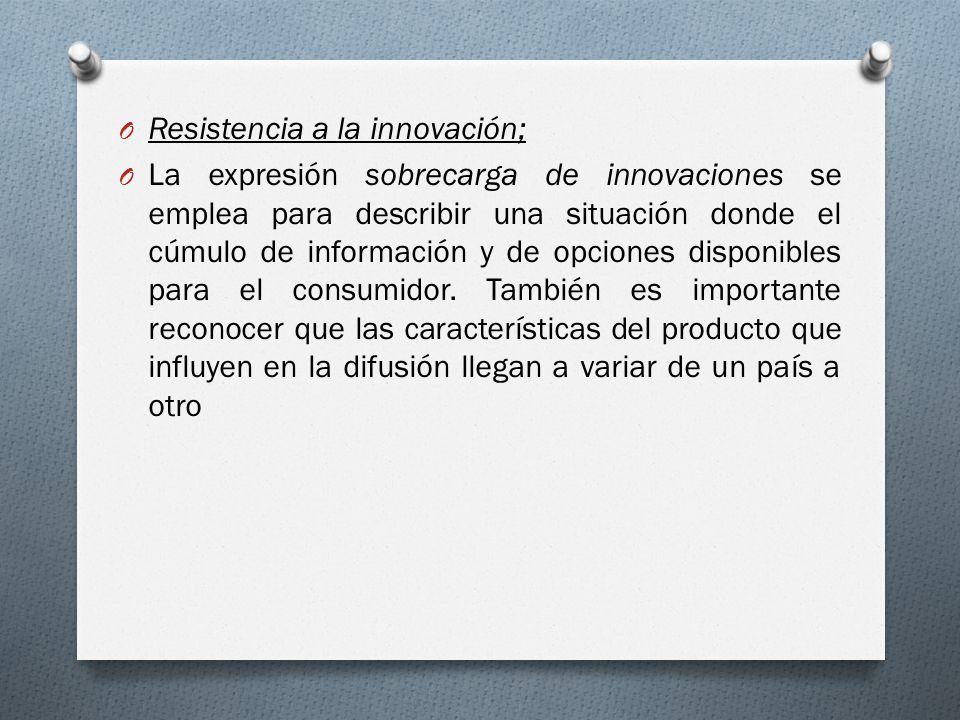 Resistencia a la innovación;