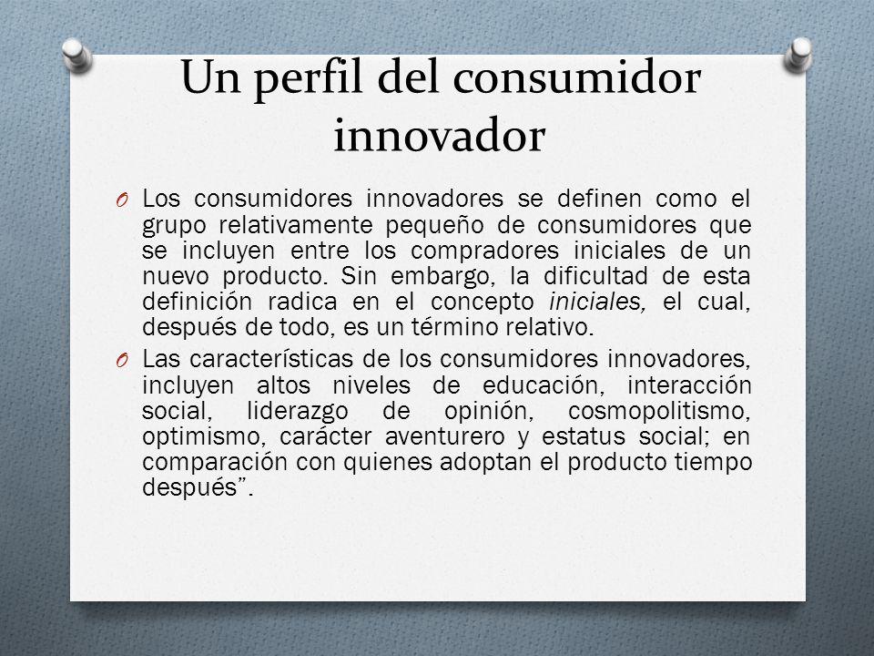 Un perfil del consumidor innovador