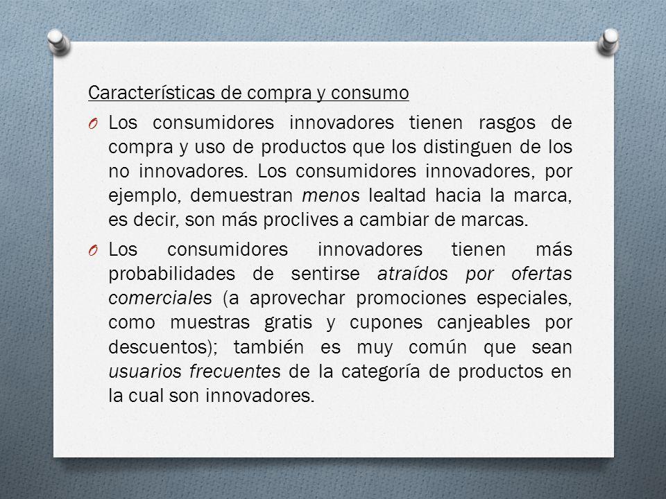 Características de compra y consumo
