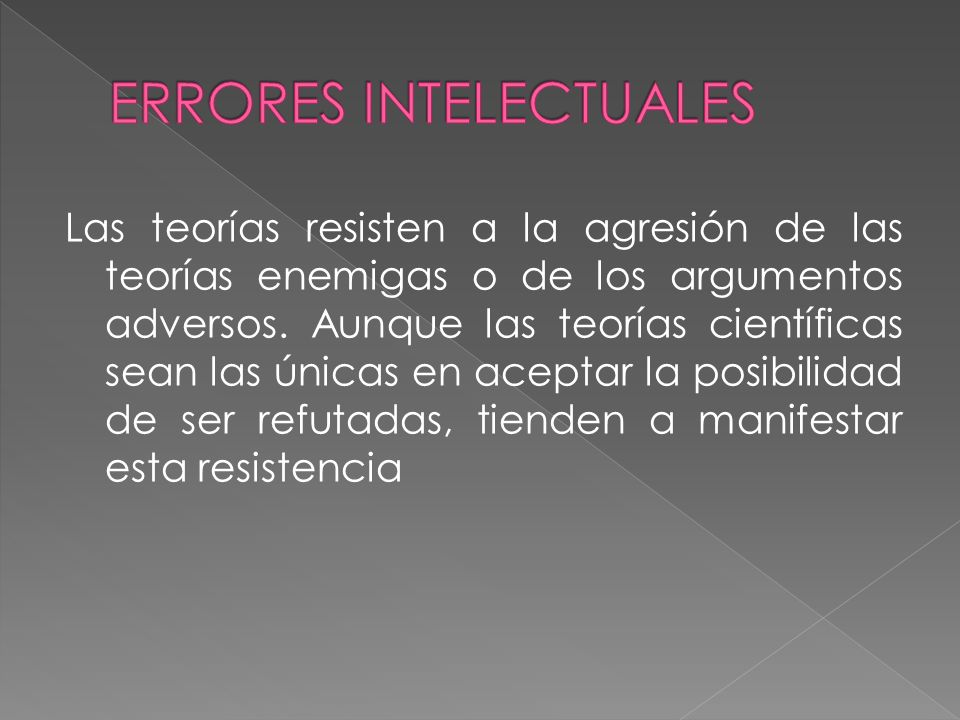 ERRORES INTELECTUALES