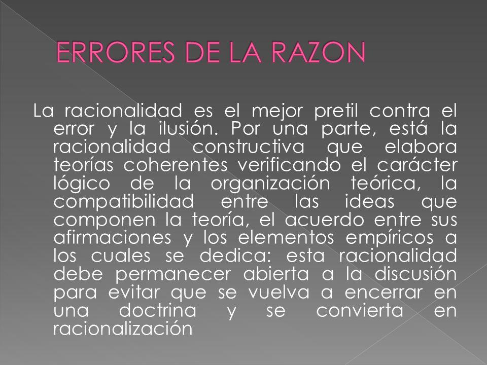 ERRORES DE LA RAZON