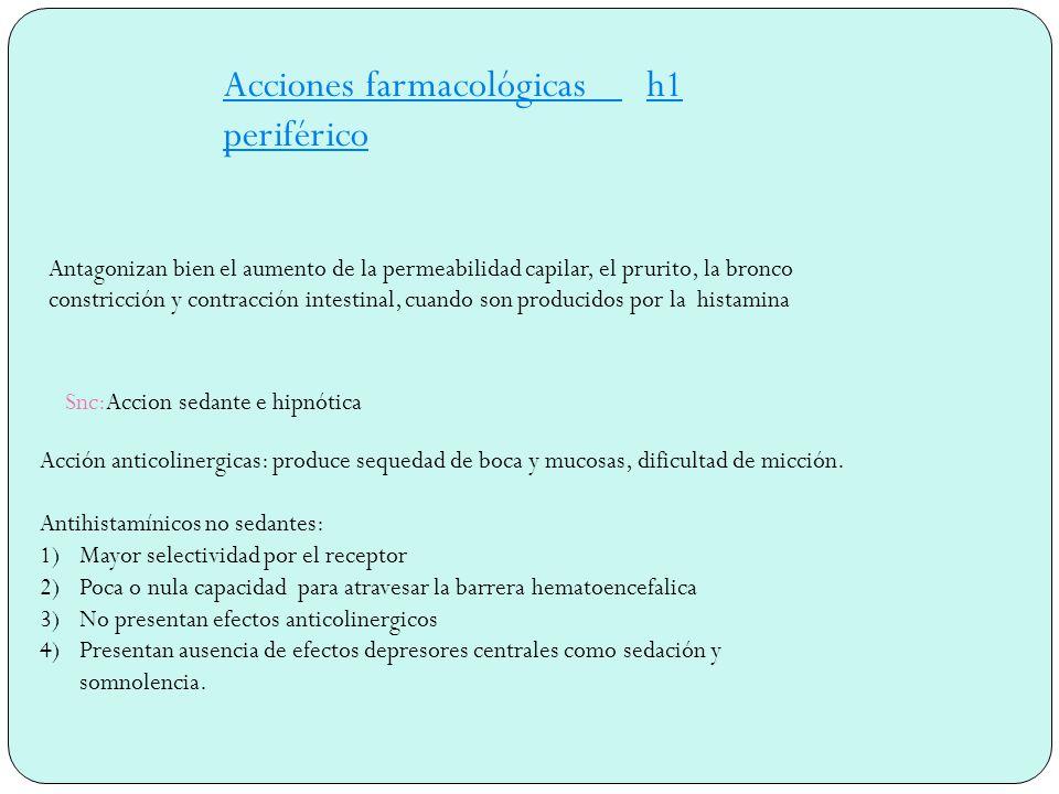 Acciones farmacológicas h1 periférico