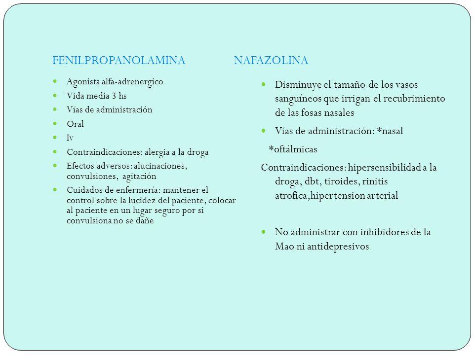 FENILPROPANOLAMINA NAFAZOLINA