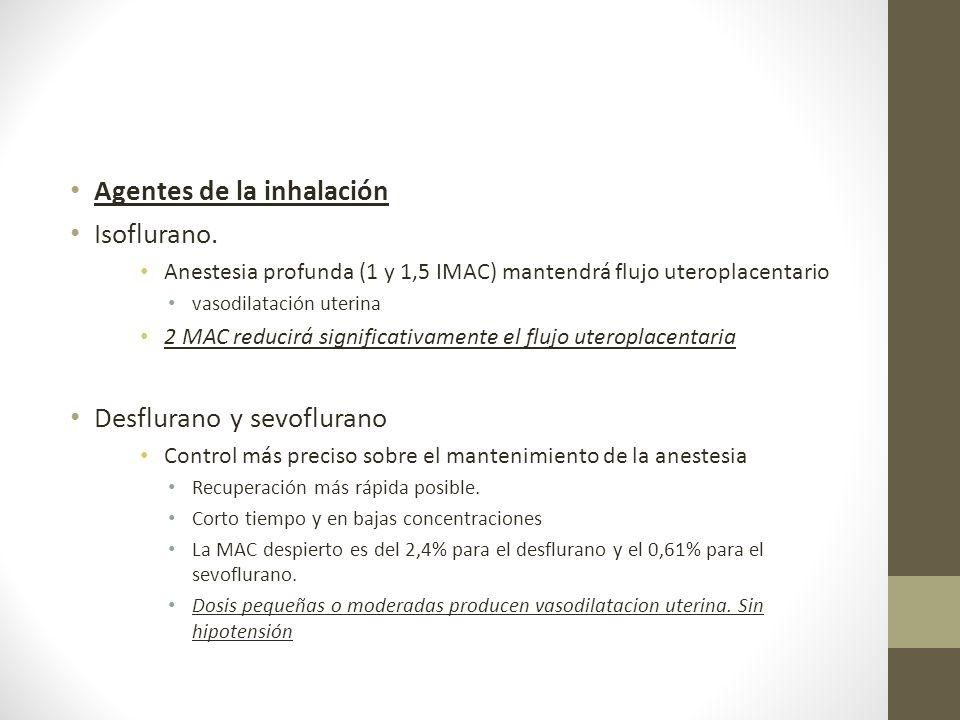 Agentes de la inhalación Isoflurano.