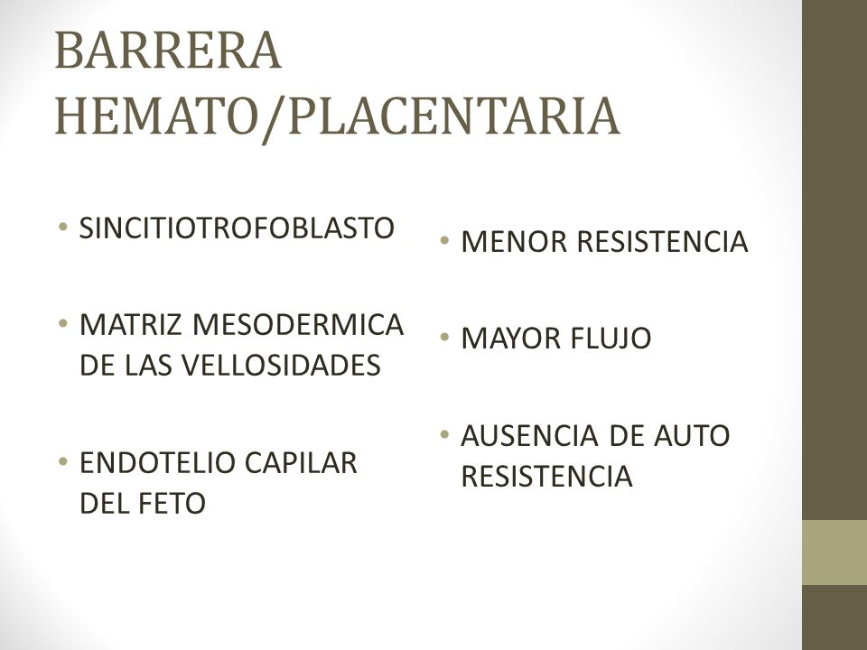 BARRERA HEMATO/PLACENTARIA