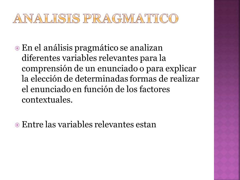 Analisis pragmatico