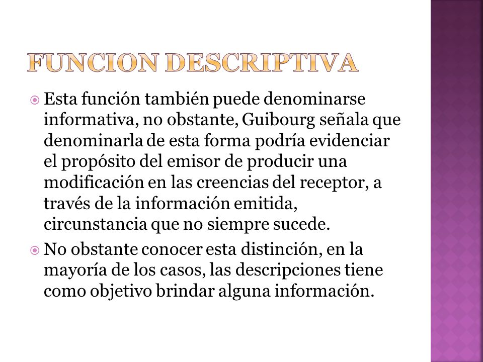 Funcion descriptiva