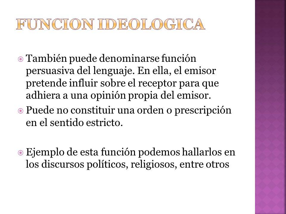Funcion ideologica