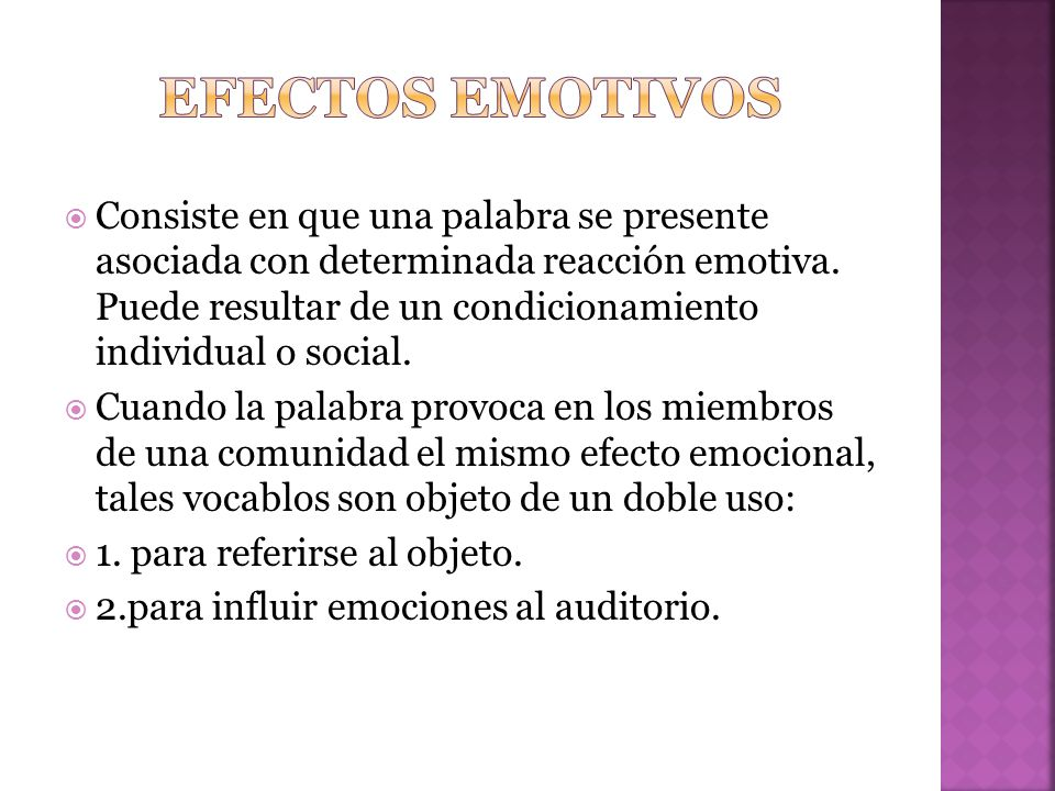 Efectos emotivos