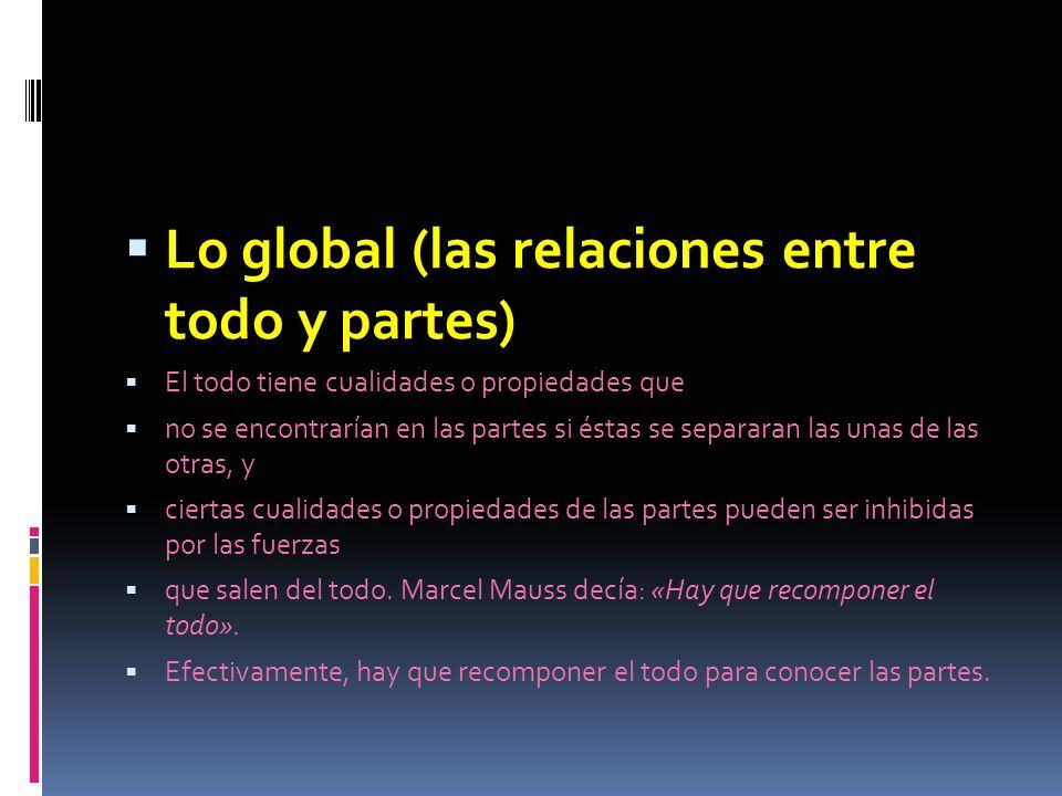 Lo global (las relaciones entre todo y partes)